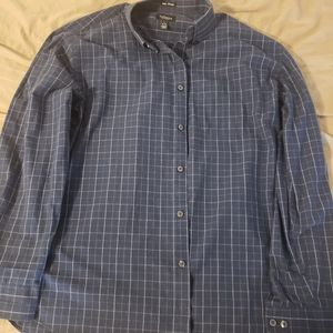Van Heusen Dark Blue Plaid Shirt